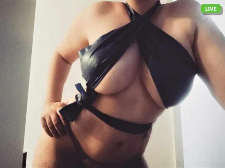 Camgirl mit große Titten