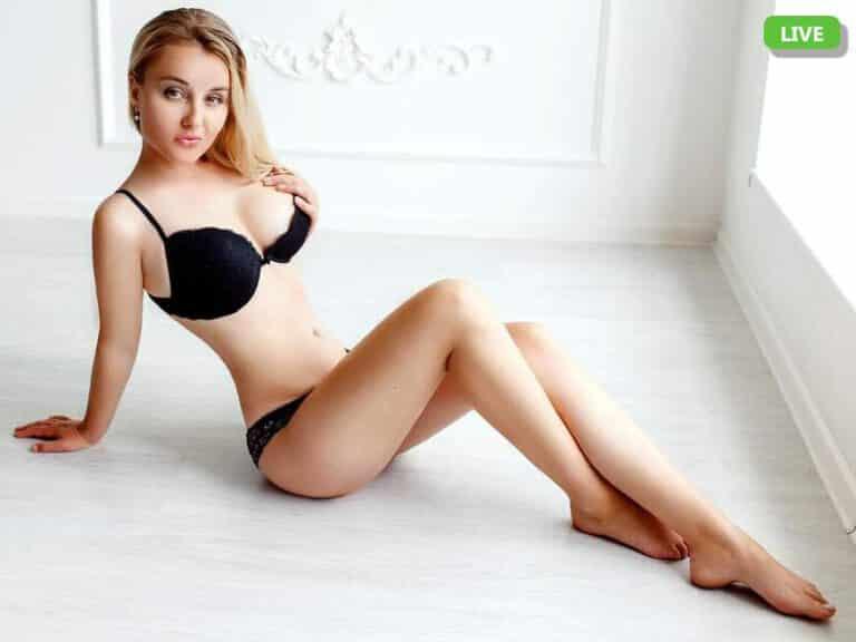Sexy Füsse einer jungen Frau